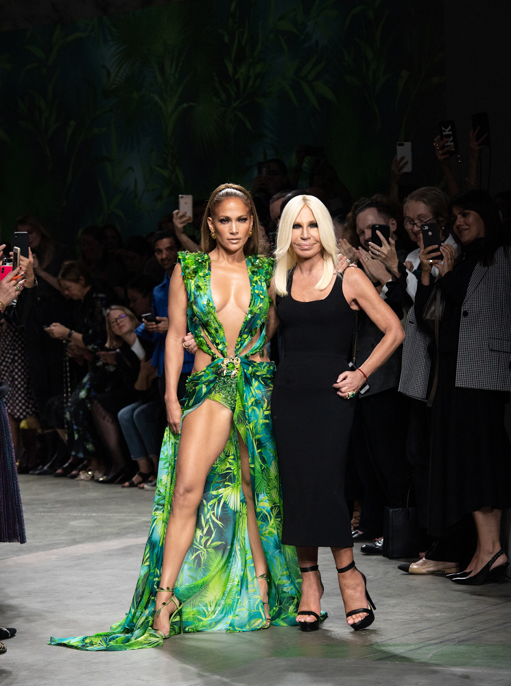 Jennifer Lopez and Donatella Versace iconic dress