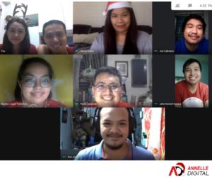 Screenshot of the members of Annelle Digital's team