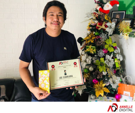 Joe Cabriana Annelle Digital 2020 Employee of the year
