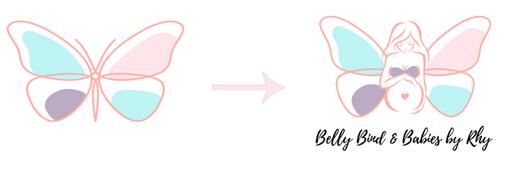 bellybind before and after logo design